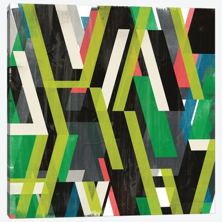 Diagonal Slipstream I 3-Piece Canvas #JEV1920} by June Erica Vess Canvas Wall Art