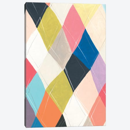 Harlequin Hopscotch I Canvas Print #JEV1922} by June Erica Vess Canvas Art