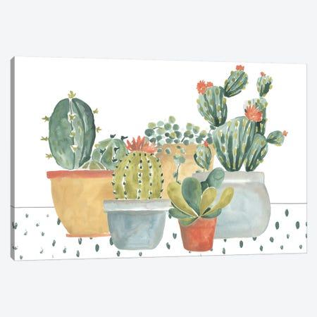 Simple Succulent Collection Canvas Print #JEV1928} by June Erica Vess Canvas Artwork