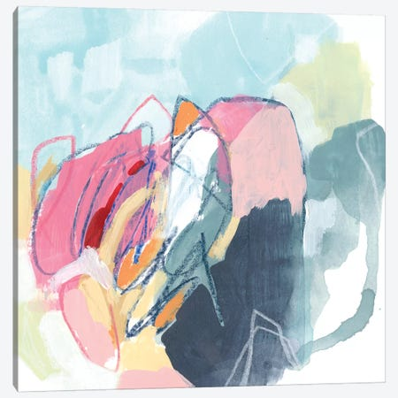 Chromatic Tangle I Canvas Print #JEV1951} by June Erica Vess Art Print