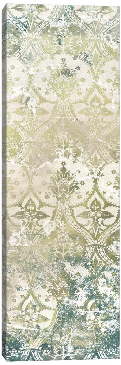 Emerald Textile I Canvas Art Print