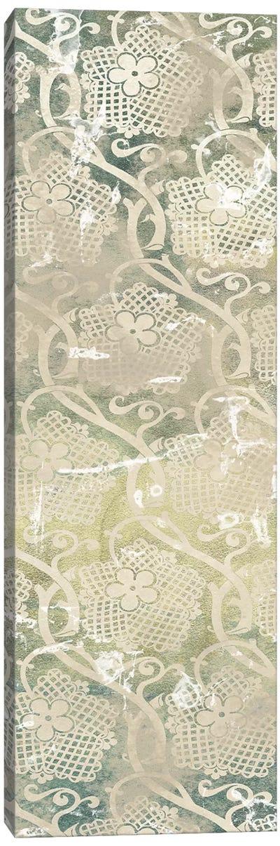 Emerald Textile IV Canvas Art Print