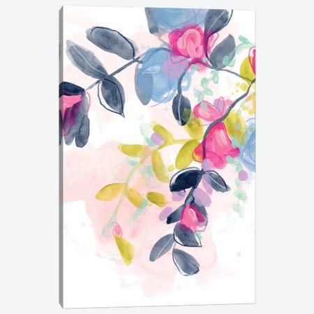 Floral Blotter II Canvas Print #JEV1976} by June Erica Vess Canvas Wall Art