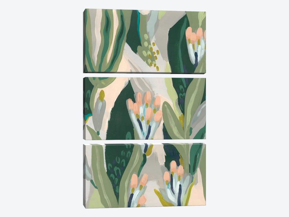 Floral Impulse I by June Erica Vess 3-piece Canvas Print