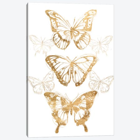 Gold Butterfly Contours II Canvas Print #JEV1988} by June Erica Vess Canvas Artwork