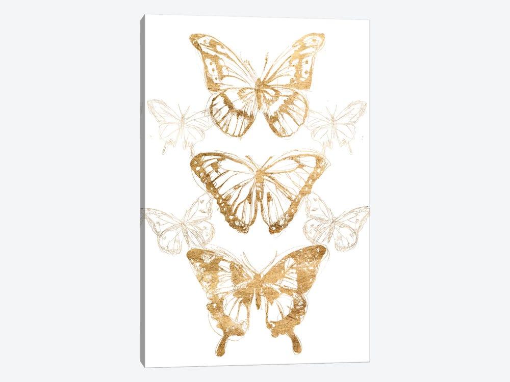 Gold Butterfly Contours II by June Erica Vess 1-piece Art Print