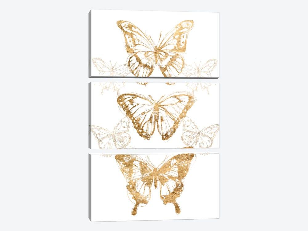 Gold Butterfly Contours II by June Erica Vess 3-piece Art Print