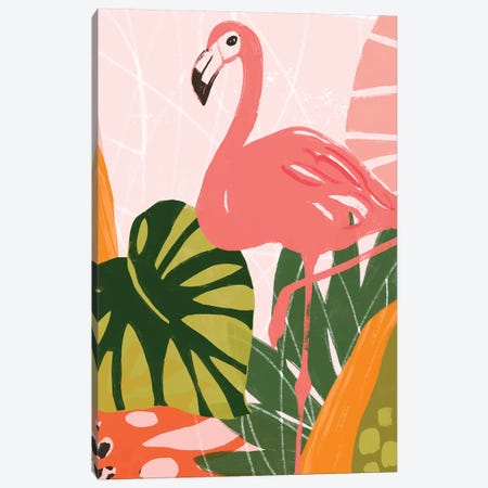 Jungle Flamingo I Canvas Print #JEV2003} by June Erica Vess Art Print