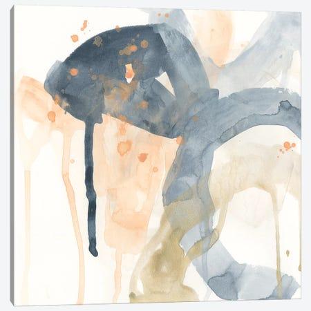 Liquid Blueprint I Canvas Print #JEV2009} by June Erica Vess Art Print