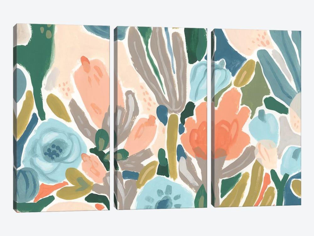 Meadow Gala I by June Erica Vess 3-piece Canvas Artwork