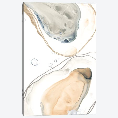 Ocean Oysters IV Canvas Print #JEV2047} by June Erica Vess Canvas Art
