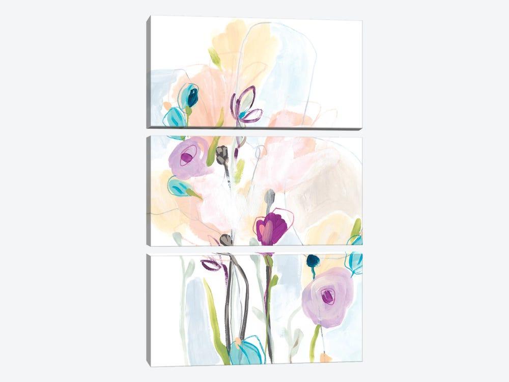 Scattershot Garden II by June Erica Vess 3-piece Canvas Wall Art