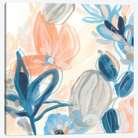 Terra Cotta Blooms I 3-Piece Canvas #JEV2102} by June Erica Vess Canvas Art