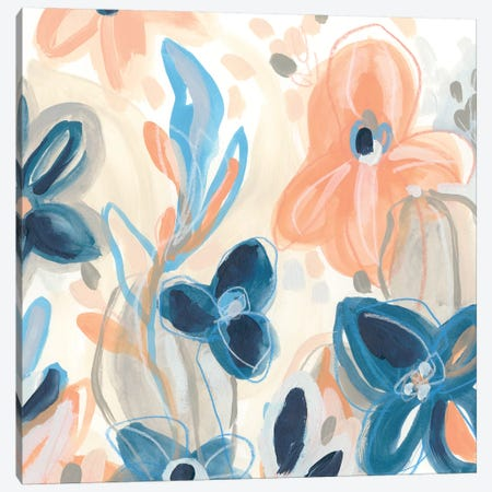 Terra Cotta Blooms IV Canvas Print #JEV2105} by June Erica Vess Canvas Print