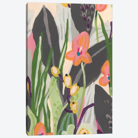 Vibrant Ladyslippers I Canvas Print #JEV2121} by June Erica Vess Canvas Artwork