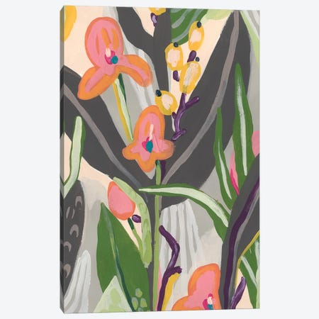 Vibrant Ladyslippers II Canvas Print #JEV2122} by June Erica Vess Canvas Art