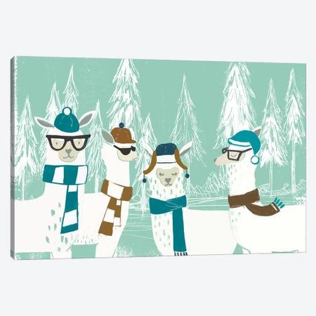 Bundle Up Llama I Canvas Print #JEV2149} by June Erica Vess Canvas Artwork