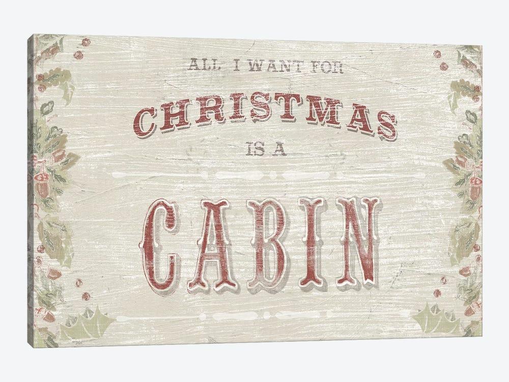 Cabin Christmas III by June Erica Vess 1-piece Art Print