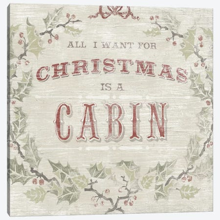 Cabin Christmas IV Canvas Print #JEV2163} by June Erica Vess Canvas Art