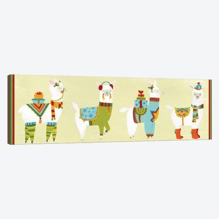Fa-la-la-la Llama Collection D Canvas Print #JEV2169} by June Erica Vess Canvas Artwork