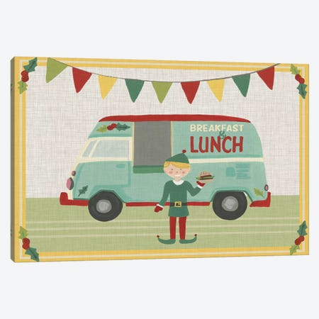 Food Truck Holidays Collection A Canvas Print #JEV2174} by June Erica Vess Canvas Wall Art