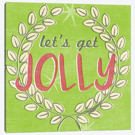 Let's Get Jolly I Canvas Print #JEV2196} by June Erica Vess Canvas Artwork