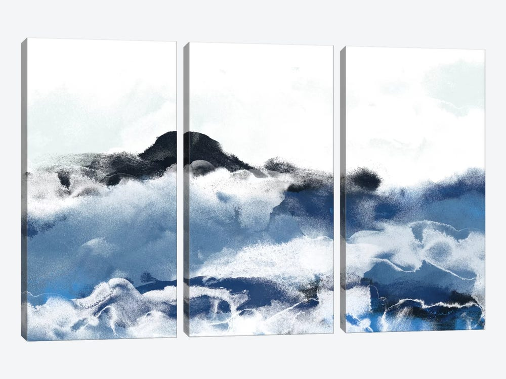 Sea Surface I 3-piece Canvas Art Print