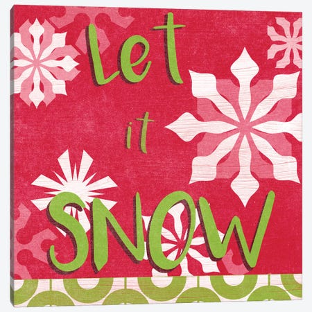 Let's Get Jolly VI Canvas Print #JEV2201} by June Erica Vess Canvas Art Print