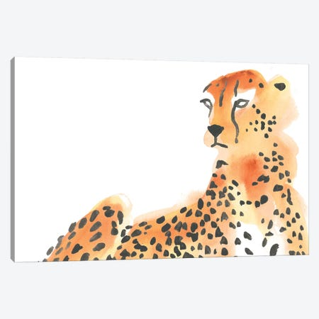 Majestic Cheetah I Canvas Print #JEV2265} by June Erica Vess Canvas Artwork