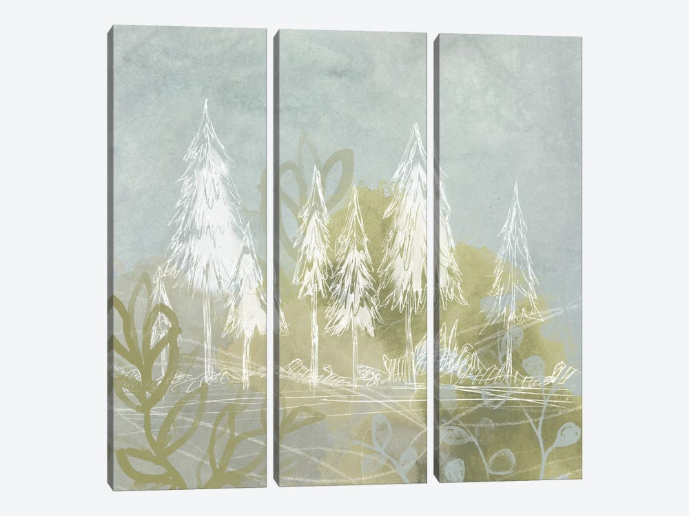 Treeline Collage I 3-piece Canvas Art