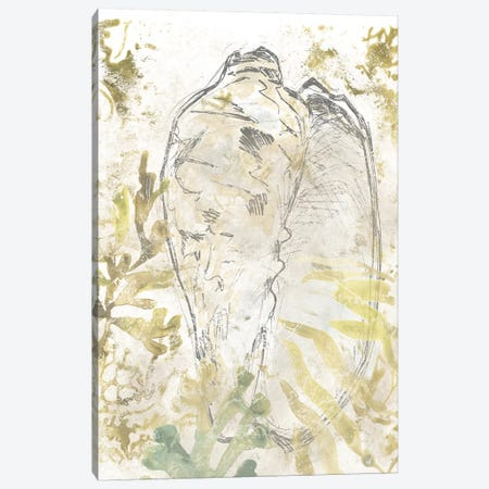 Verdant Shell Fresco IV Canvas Print #JEV2317} by June Erica Vess Canvas Art