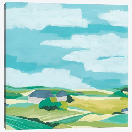 Village Valley I Canvas Print #JEV2318} by June Erica Vess Canvas Art Print