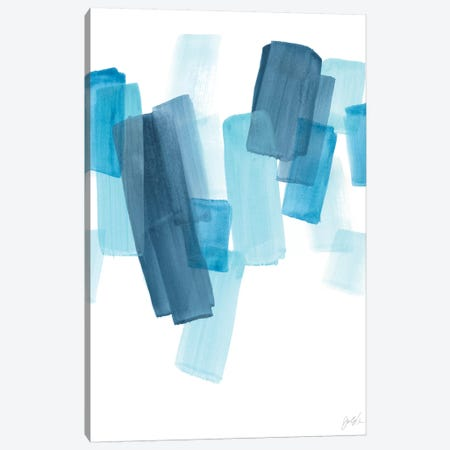 Azure Fragment I Canvas Print #JEV2334} by June Erica Vess Canvas Wall Art