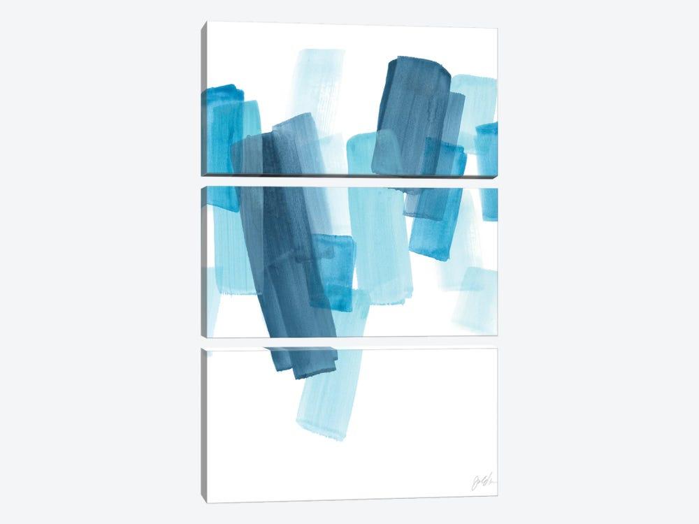 Azure Fragment I by June Erica Vess 3-piece Canvas Wall Art