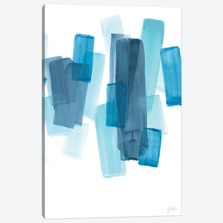 Azure Fragment II 3-Piece Canvas #JEV2335} by June Erica Vess Canvas Wall Art