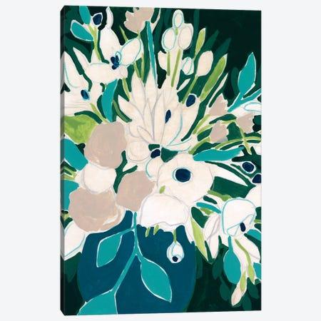 Blue Bloom Sketch I Canvas Print #JEV2338} by June Erica Vess Canvas Art Print