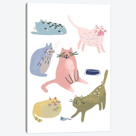 Cat Squad II Canvas Print #JEV2341} by June Erica Vess Canvas Artwork