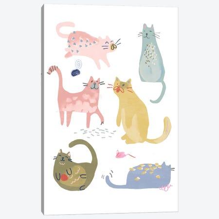 Cat Squad IV Canvas Print #JEV2343} by June Erica Vess Canvas Art