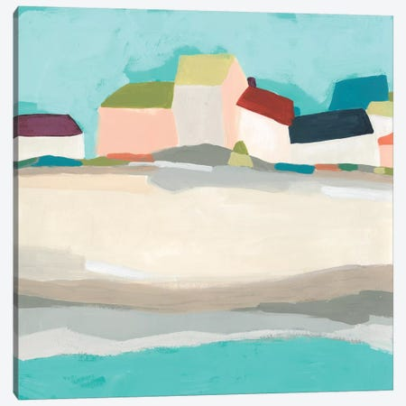 Coastal Village I Canvas Print #JEV2348} by June Erica Vess Canvas Wall Art