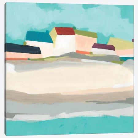 Coastal Village II Canvas Print #JEV2349} by June Erica Vess Canvas Artwork