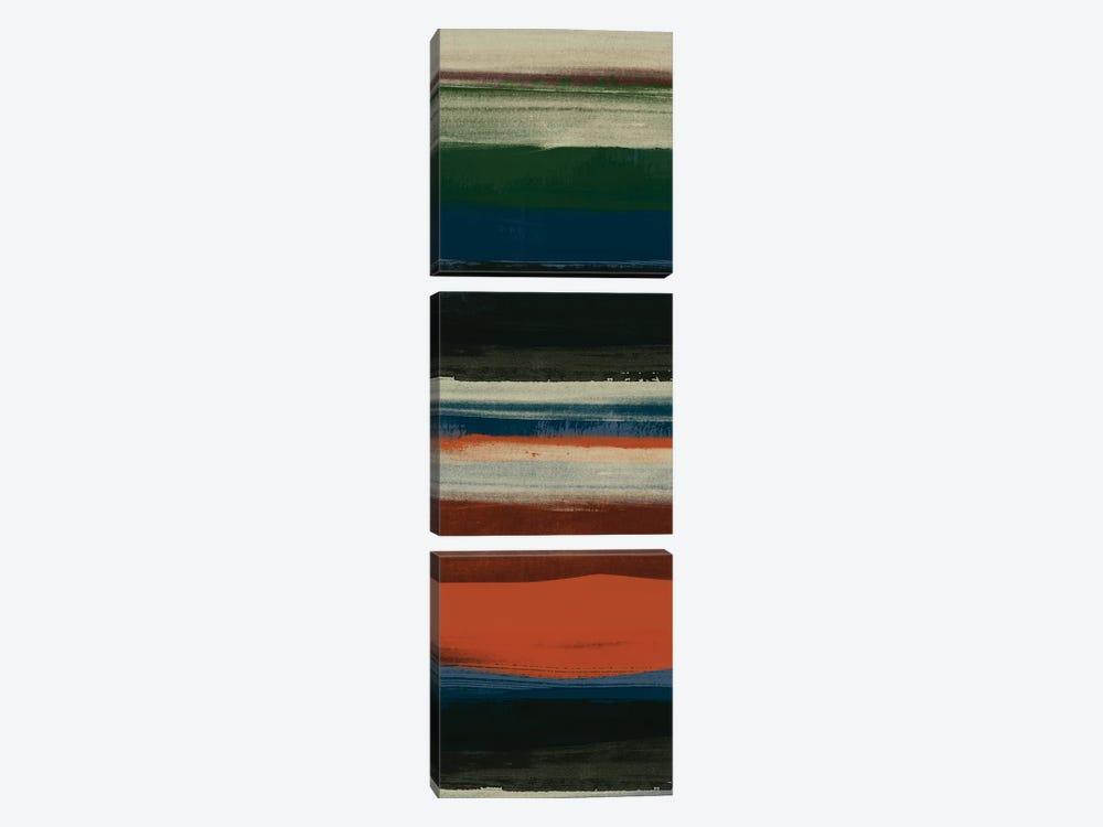 Lodge Strata III by June Erica Vess 3-piece Canvas Artwork