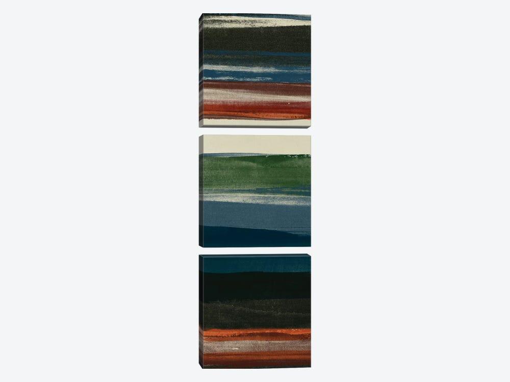 Lodge Strata IV by June Erica Vess 3-piece Canvas Print