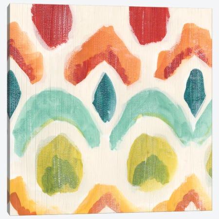Textile Kaleidoscope I Canvas Print #JEV239} by June Erica Vess Art Print