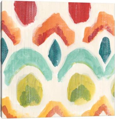 Textile Kaleidoscope I Canvas Art Print