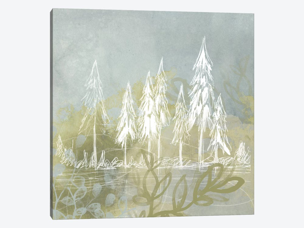 Treeline Collage II by June Erica Vess 1-piece Canvas Print