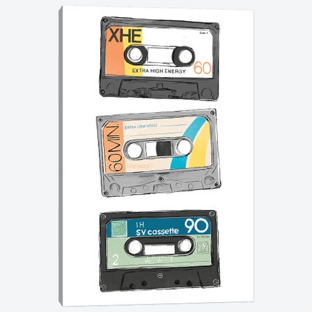 Mix Tape VIII Canvas Print #JEV2407} by June Erica Vess Canvas Wall Art