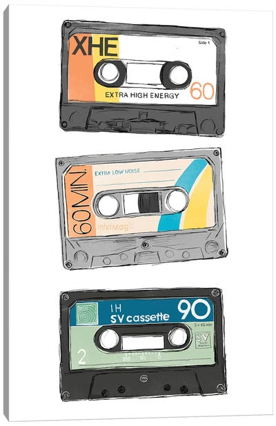 Mix Tape VIII Canvas Art Print