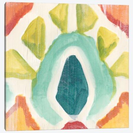Textile Kaleidoscope II Canvas Print #JEV240} by June Erica Vess Canvas Wall Art