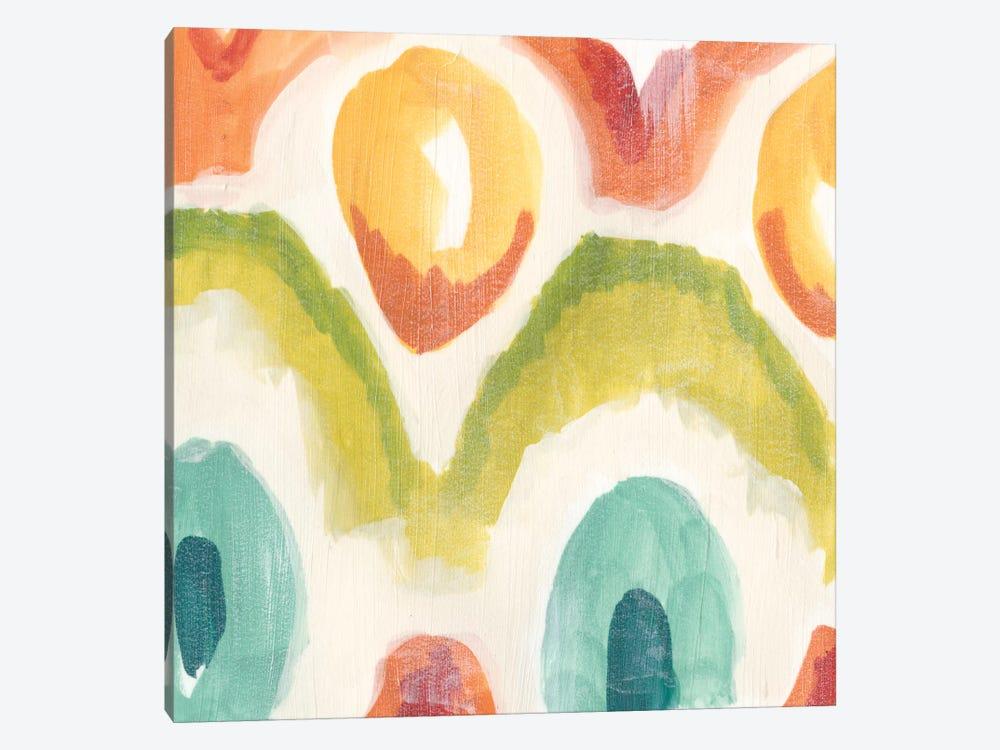 Textile Kaleidoscope III by June Erica Vess 1-piece Canvas Art