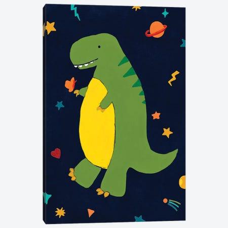 Starry Dinos III Canvas Print #JEV2428} by June Erica Vess Canvas Art Print